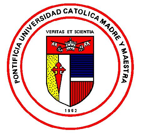 Logo Pontificia Universidad Catolica Madre y Maestra con la Escuela de Administracion de Empresas de Barcelona