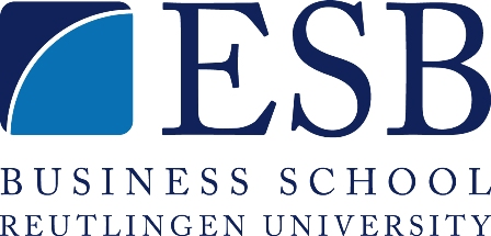 Logo Reutlingen University - ESB Business School