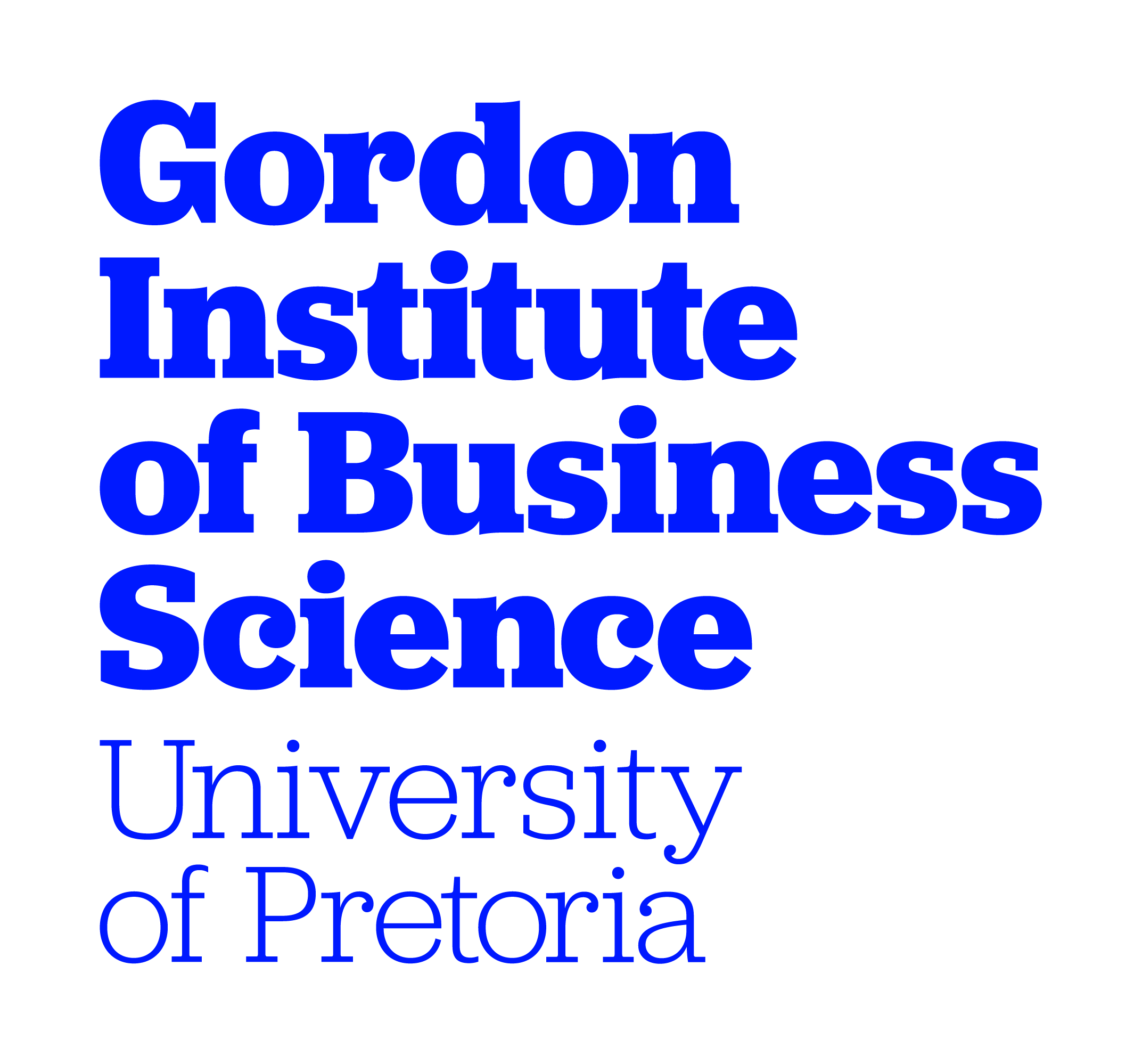 Logo University of Pretoria - Gordon Institute of Business Science
