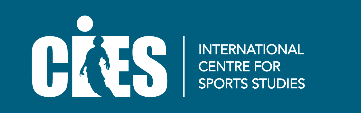 Logo International Centre for Sports Studies (CIES) in partnership with De Montfort University (England), SDA Bocconi School of Management (Italy),  the University of Neuchâtel (Switzerland)