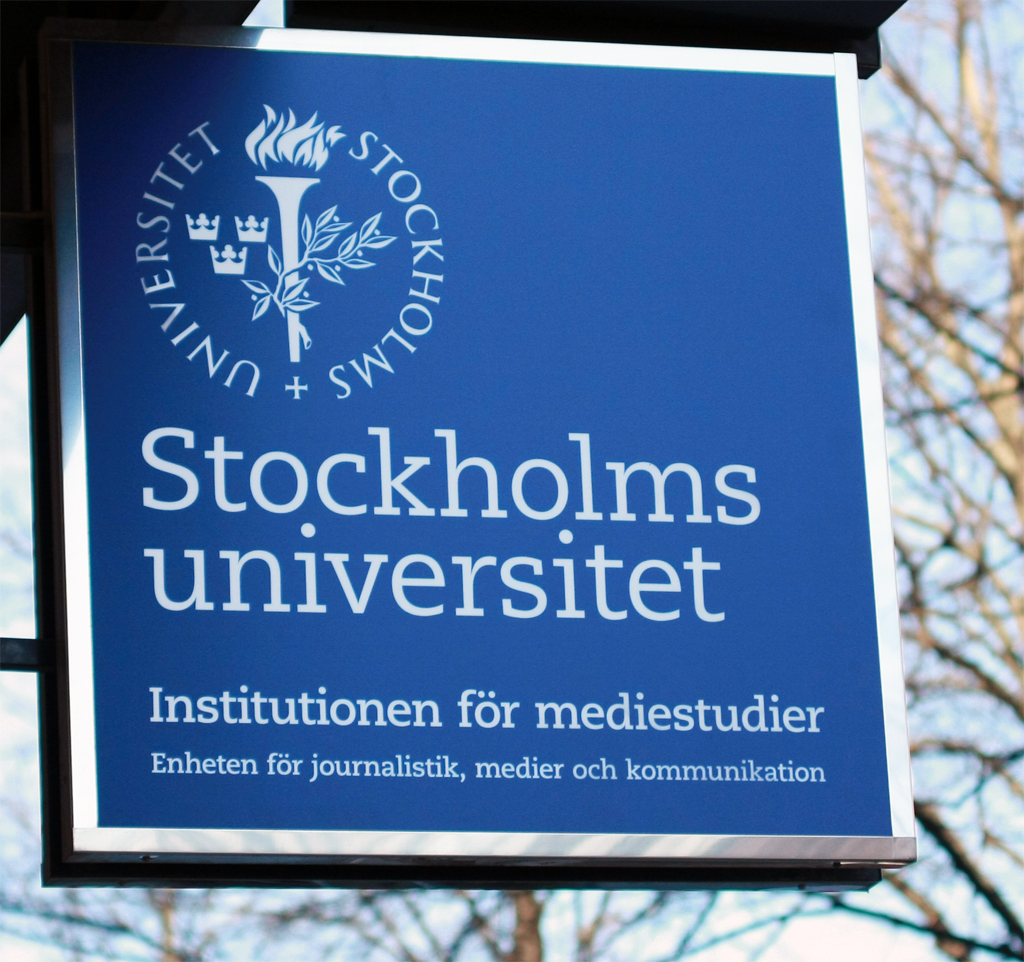Logo Stockholm University - Department of Media Studies